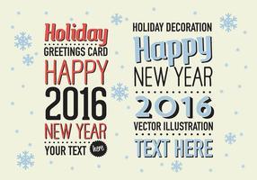 Gratis Merry Christmas Vector Achtergrond Met Typografie
