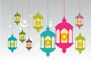 Vecteur de lampe à huile Pelita gratuit