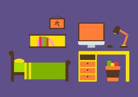Gratis Kids Room Vector Pictogrammen # 16
