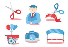 Ribbon Cutting Vector Set