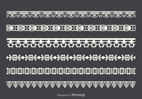 Gratis Vector Lace Trim Set