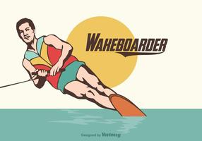 Illustration vectorielle gratuite Wakeboarder