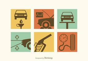 Kostenlose Auto-Reparatur-Vektor-Icons