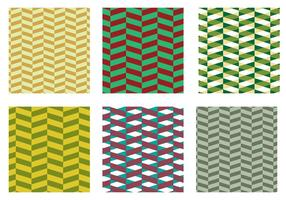 Herringbone Pattern Green Vector