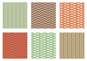 Herringbone Pattern Orange Vector