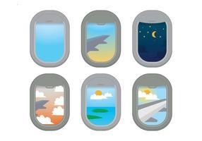 Vector de fenêtre d'avion