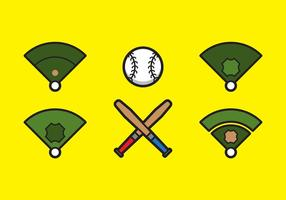 Free Baseball Vector Icon Illustrations #5