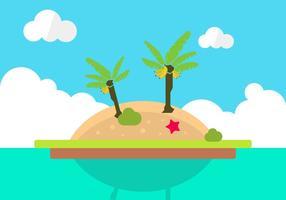 Vector isla solitaria