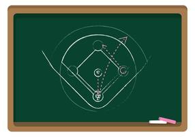 Vector Chalkboard Baseball Diamond