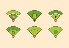 Free Baseball Vector Icon Illustrations #3