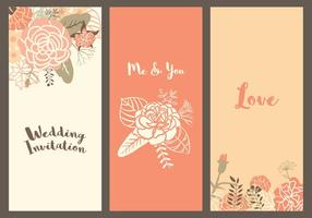Vector Carnation Wedding Templates