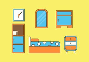 Gratis Kids Room Vector Pictogrammen # 7