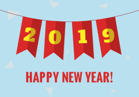Kostenloses neues Jahr Vektor