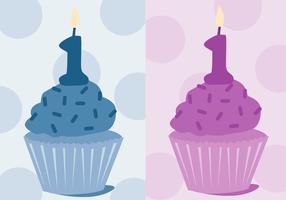 Primeiro vetor de aniversário grátis