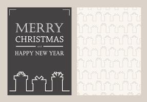 Vector de tarjeta de Navidad gratis