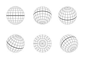 Vecteur de contour de grille globe libre