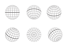 Free Globe Grid Umriss Vektor