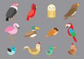 Cartoon vogels