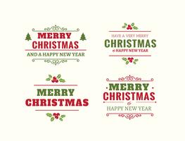 Beautiful Christmas Label Set vector