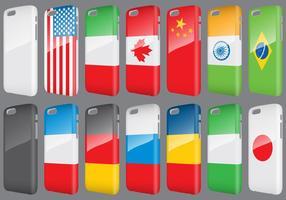 Selos para telefone de bandeiras