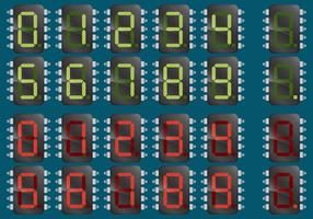 Numerical Microchips vector