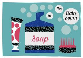 Éléments de salle de bain gratuits illustration vectorielle