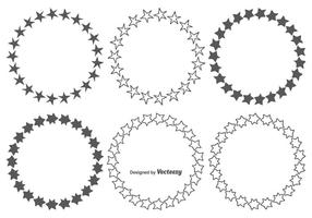 Hand getrokken Star Frames Set