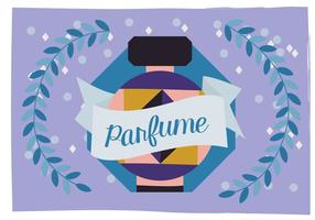 Perfume Vector Background Illustration