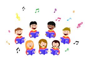 Vecteur de chant d'enfants gratuit