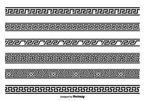 Ensemble de bordure de style clé grec