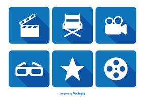 Conjunto de iconos de cine relacionados