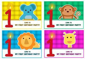 1r cumpleaños Vectores