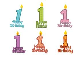 1 ° compleanno vettoriale