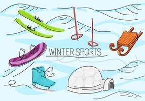 Fondo de vectores de deportes de invierno gratis