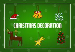 Gratis Kerst Decoraties Vector