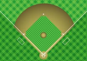 Baseball Arial View Vector gratuito