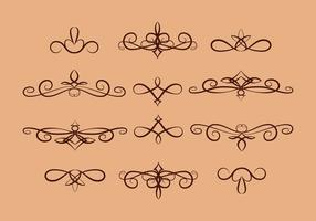 Scrollwork Set on Tan Background
