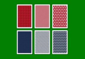 Vector, juego, tarjeta, espalda