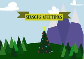 Free Christmas Mountains Vector