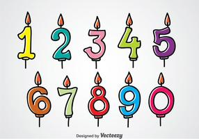 Birthday Number Candles vector