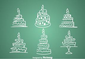 1st Birthday Cake Icons vector