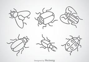 Iconos de dibujo de insectos