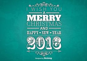 Typographic Merry Christmas design