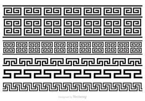 Gratis Griekse Sleutelborstels Vector