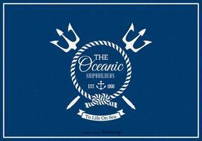 Free Retro Nautical Label Vector