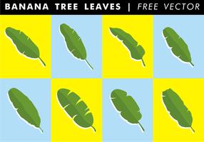 Árvore de banana deixa vetor livre