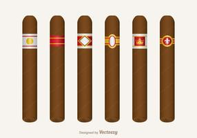 Free Cigar Label Vektor Set