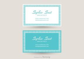 Free Greek Business Card Vector