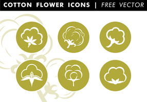 Baumwolle flache Icons Free Vector