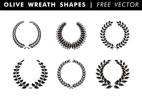 Olive Wreath Shapes Free Vector